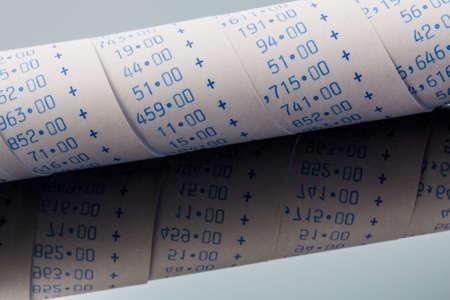 calculation strip of calculator