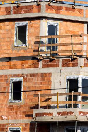 construction of a residential building Foto de archivo