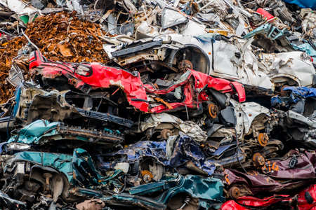 cars were scrapped Stockfoto