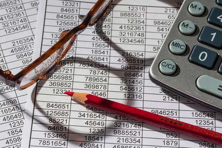 calculator and statistics Standard-Bild