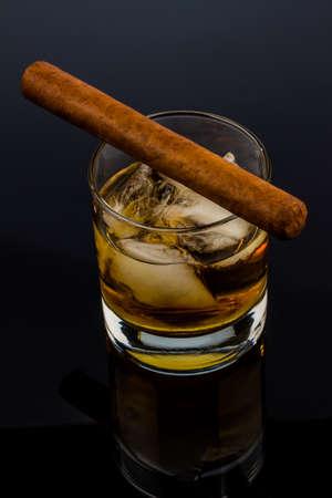 whiskey and cigar
