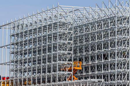construction of a shelf warehouse Standard-Bild