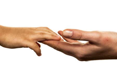 small and big hand