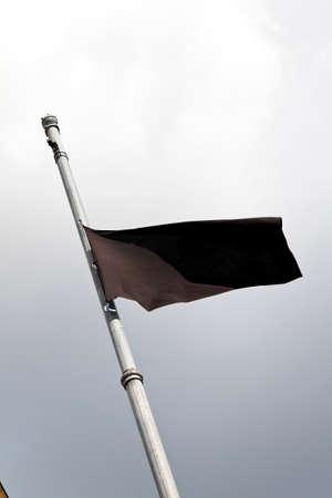 mourning flag after dead