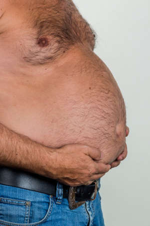 man with overweight Standard-Bild