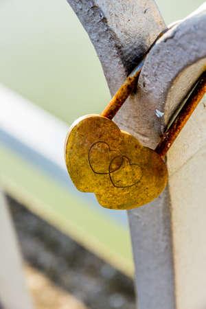 padlock as a symbol of love