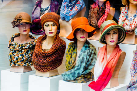 boutique with hats and womens fashion