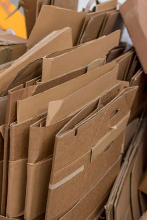 cardboard boxes for the waste paper collection Stockfoto