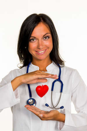 internist with heart Foto de archivo