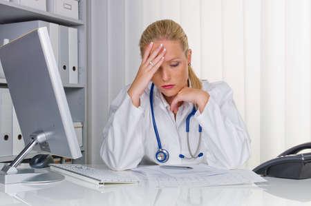 female doctor with stethoscope Standard-Bild