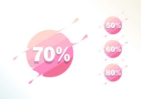 A set of Pink Sale Label Promotion