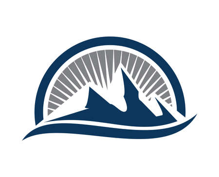 A vector Illustration of Awesome Simple Mountain Logo Sign
