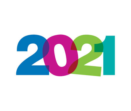 A vector Illustration of 2021 Colorfull Vector Sign