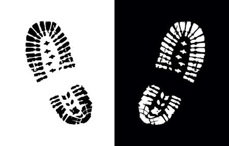 A vector Illustration of Shoe Print Vector Sign Vetores