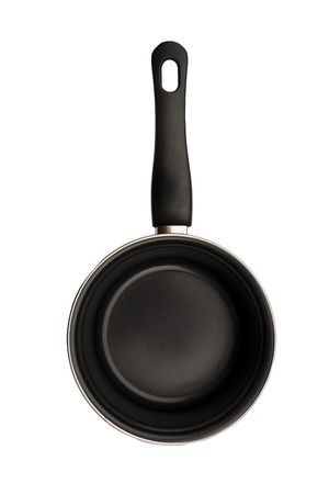 Blackcooking pan isolated on white background. Cooking dish and tools