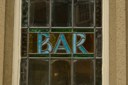 Street view Bar inscription window, Stamford, England