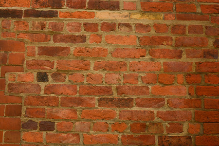 Old, orange stone brick wall texture, brick wall background. Stock Photo - 124350331