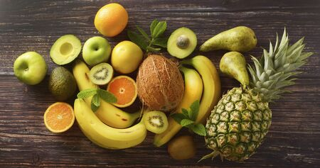 Healthy fruits, foods