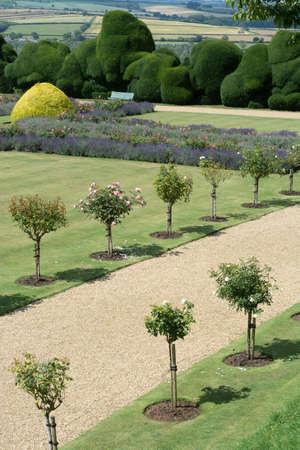 Northamptonshire, U.K July 21, 2020 - Rockingham Estate, Castle, old buidings with summer gardens. 免版税图像