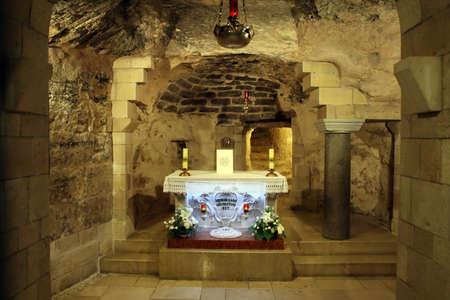 Nazareth, Israel - 10 May 2019: Church Basilica of the Annunciation in the center of Nazareth. Roman Catholic basilica. Editorial