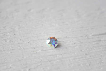 Crystal Stone macro, purple rough quartz crystals Stock Photo