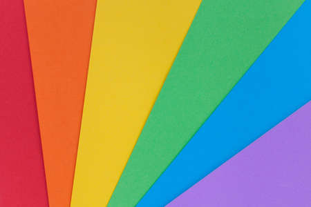 Paper in colors for background. Pride community. Rainbow colors. Stock Photo