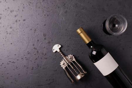 wine concept on dark background