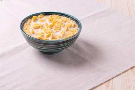 crispy cornflakes as breakfast concept