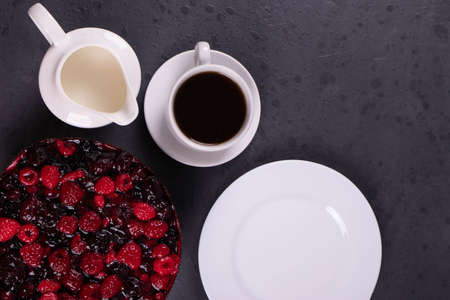 delicious jam and berries pie