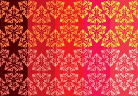 set of 10 hexagonal seamless floral patterns Illustration
