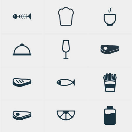 Vector Illustration Of 12 Eating Icons. Editable Pack Of Goblet, Potato, Lime And Other Elements.
