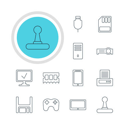 Vector Illustration Of 12 Notebook Icon