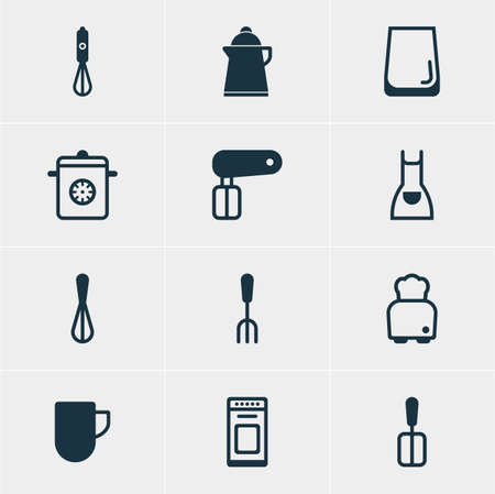 coking: Vector Illustration Of 12 Restaurant Icons. Editable Pack Of Steamer, Tea, Bread And Other Elements.