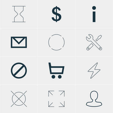 incorrect: Vector Illustration Of 12 Member Icons. Editable Pack Of Info, Maintenance, Letter And Other Elements.