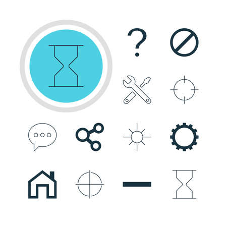 focalize: Vector Illustration Of 12 Member Icons. Editable Pack Of Mainpage, Help, Maintenance And Other Elements.