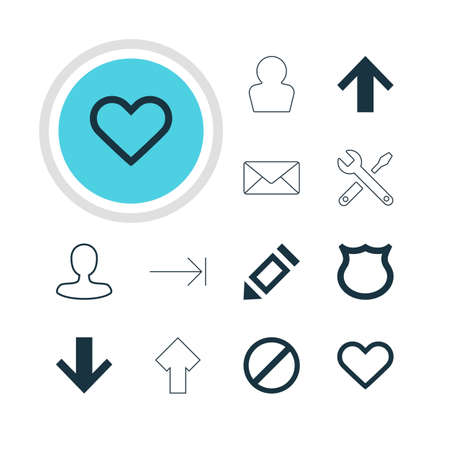 tabulation: Vector Illustration Of 12 Interface Icons. Editable Pack Of Tabulation Button, Top, Man Member And Other Elements.