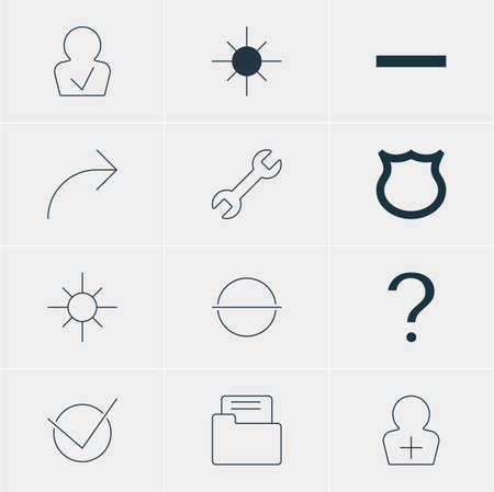 llave de sol: Vector Illustration Of 12 Member Icons. Editable Pack Of Register Account, Approved Profile, Conservation And Other Elements.