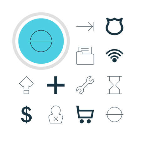 tabulation: Vector Illustration Of 12 Interface Icons. Editable Pack Of Tabulation Button, Banned Member, Cordless Connection And Other Elements.