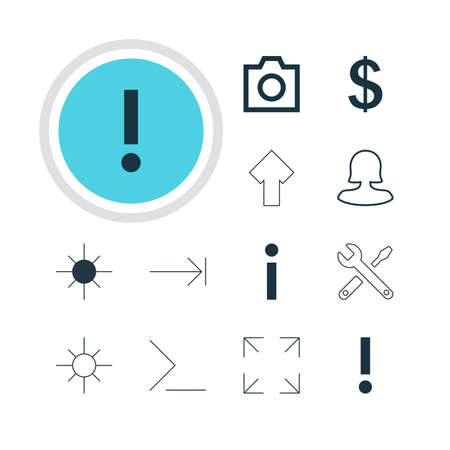 tabulation: Vector Illustration Of 12 Member Icons. Editable Pack Of Startup, Female User, Tabulation Button And Other Elements.