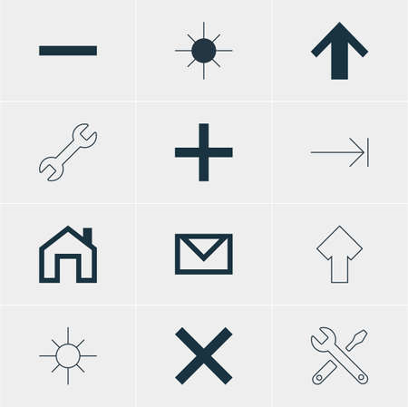 tabulation: Vector Illustration Of 12 Member Icons. Editable Pack Of Tabulation Button, Minus, Maintenance And Other Elements. Illustration