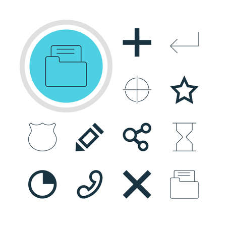 incorrect: Vector Illustration Of 12 Member Icons. Editable Pack Of Guard, Asterisk, Hourglass And Other Elements. Illustration