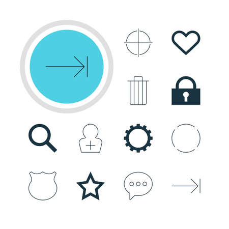 tabulation: Vector Illustration Of 12 Member Icons. Editable Pack Of Positive, Asterisk, Repeat And Other Elements.
