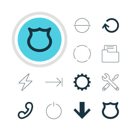 tabulation: Vector Illustration Of 12 Member Icons. Editable Pack Of Remove, Tabulation Button, Dossier And Other Elements.