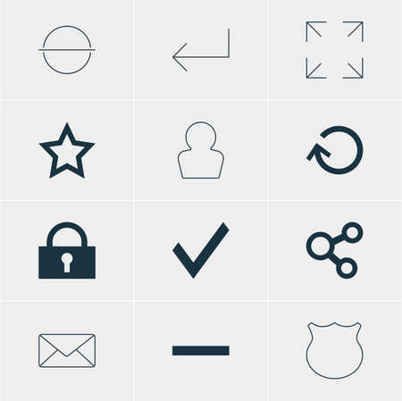 Vector Illustration Of 12 User Icons. Editable Pack Of Accsess, Publish, Confirm And Other Elements.
