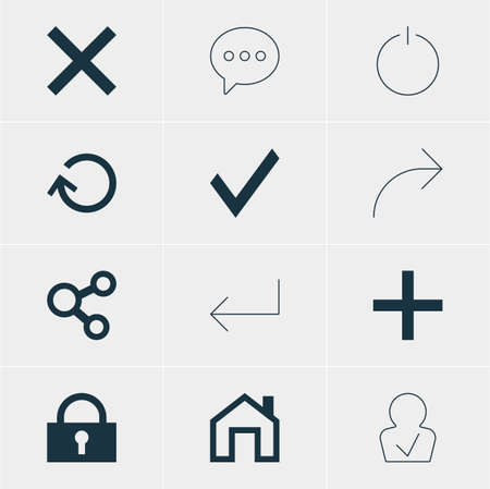 Vector Illustration Of 12 Interface Icons. Editable Pack Of Publish, Mainpage, Renovate And Other Elements. Illustration