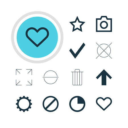 Vector Illustration Of 12 Member Icons. Editable Pack Of Remove, Cancel, Top And Other Elements.