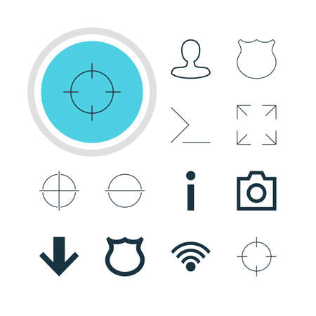 expel: Vector Illustration Of 12 User Icons. Editable Pack Of Positive, Info, Screen Capture And Other Elements. Illustration