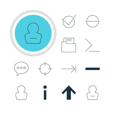 tabulation: Illustration Of 12 Member Icons. Editable Pack Of Avatar, Startup, Minus And Other Elements.