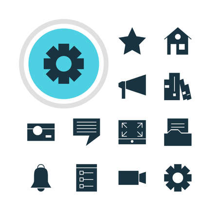 maximize: Vector Illustration Of 12 Web Icons. Editable Pack Of Board, Document Directory, Capture And Other Elements.