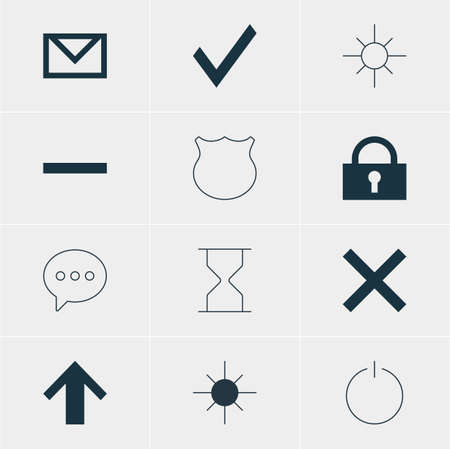 eject: Vector Illustration Of 12 User Icons. Editable Pack Of Wrong, Hourglass, Top And Other Elements.